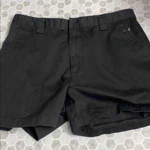 Calvin Klein Size 14 Bermuda Black Denim Shorts